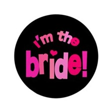 """Shades of Pink Bride 3.5"""" Button"""