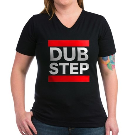 Women's Dubstep run/dmx style V-Neck Dark T-Shirt