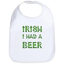 IRISH I HAD A BEER Bib