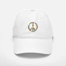 Peace Flowers Baseball Baseball Cap