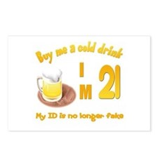 Buy me a cold drink I'm 21 Postcards (Package of 8