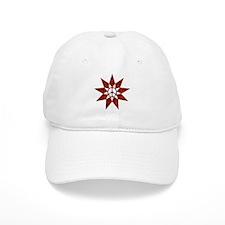 Red Peace Star Baseball Baseball Cap