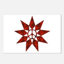 Red Peace Star Postcards (Package of 8)