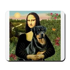 Mona Lisa & Rottie Mousepad