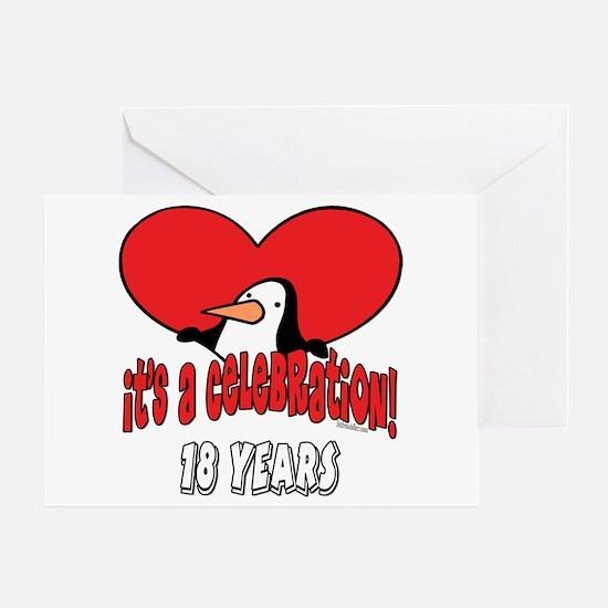 18th Celebration Greeting Card