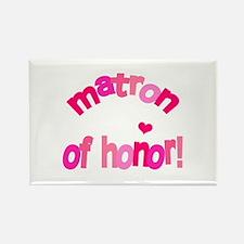 Pink Kiss Matron of Honor Rectangle Magnet