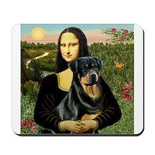Mona Lisa & Rottie Mousepad