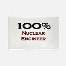 100 Percent Nuclear Engineer Rectangle Magnet