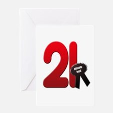 21 officially legal Greeting Card