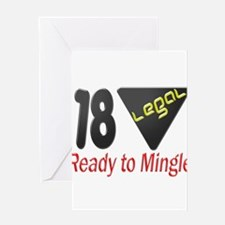 18 Legal ready to mingle Greeting Card