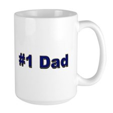 Large #1 Dad Navy Logo Mug