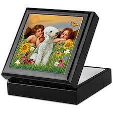 Angels & Bedlington Keepsake Box