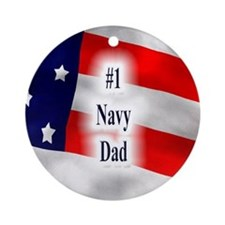 Keepsake (Round) -#1 Navy Dad