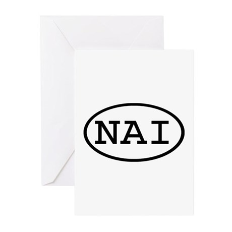 NAI Oval Greeting Cards (Pk of 20)