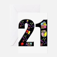 21st birthday Greeting Card