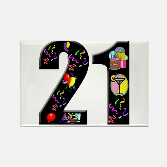 21st birthday Rectangle Magnet