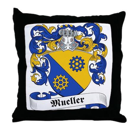 Mueller Family Crest Throw Pillow