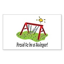 Proud to be a Swinger! Rectangle Decal