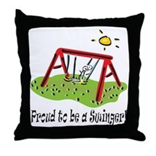 Proud to be a Swinger! Throw Pillow