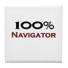 100 Percent Navigator Tile Coaster