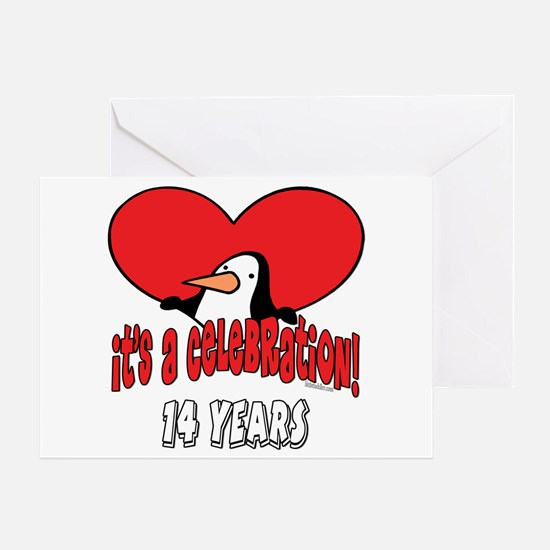 14th Celebration Greeting Card