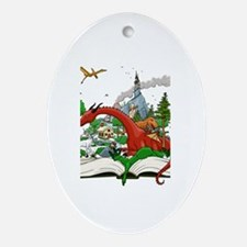 Reading is Fantastic! Oval Ornament