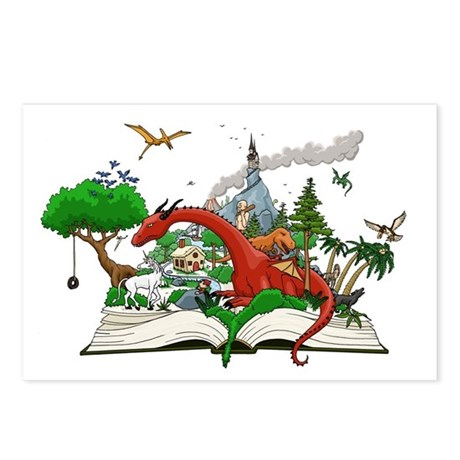 Reading is Fantastic! Postcards (Package of 8)