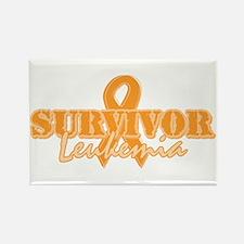 Survivor - Leukemia Rectangle Magnet