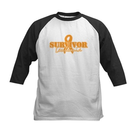 Survivor - Leukemia Kids Baseball Jersey