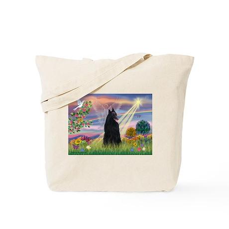 Cloud Angel & Belgian Shepherd Tote Bag