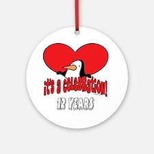 12th Celebration Ornament (Round)