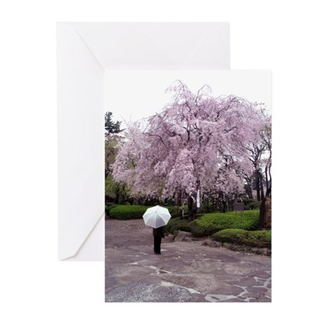 Cherry Blossoms-Umbrella Greeting Cards (Pk of 10)