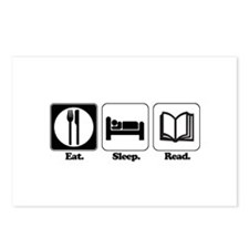 Eat. Sleep. Read. Postcards (Package of 8)