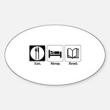 Eat. Sleep. Read. Oval Decal