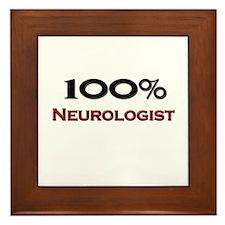100 Percent Neurologist Framed Tile
