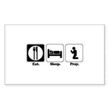 Eat. Sleep. Pray. Rectangle Decal