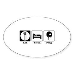 Eat. Sleep. Pong. Oval Decal