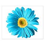 Pop Art Blue Daisy Small Poster