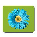 Pop Art Blue Daisy Mousepad