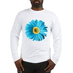 Pop Art Blue Daisy Long Sleeve T-Shirt