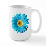Pop Art Blue Daisy Large Mug