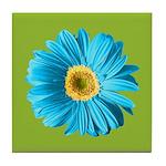 Pop Art Blue Daisy Tile Coaster