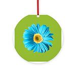 Pop Art Blue Daisy Ornament (Round)