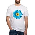 Pop Art Blue Daisy Fitted T-Shirt