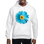Pop Art Blue Daisy Hooded Sweatshirt