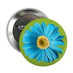 Pop Art Blue Daisy 2.25