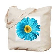 Pop Art Blue Daisy Tote Bag