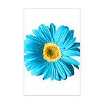 Pop Art Blue Daisy Mini Poster Print