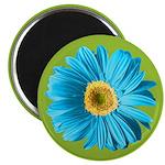 Pop Art Blue Daisy Magnet