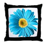 Pop Art Blue Daisy Throw Pillow